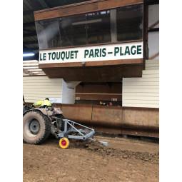 Rameneur de bords, pour sable accumulé en bord de piste équestre - exclusivité EKEEP au Touquet