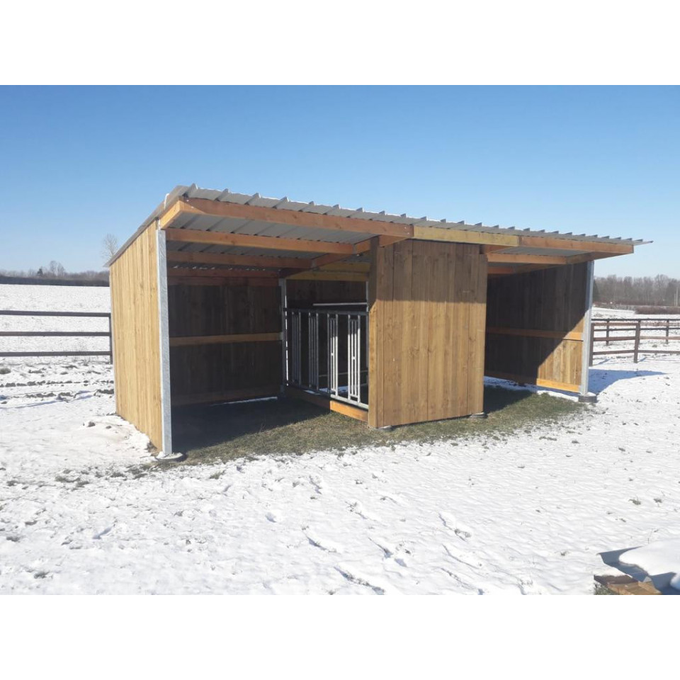 Abris de prairie 8x3m avec double accès au foin - EKEEP